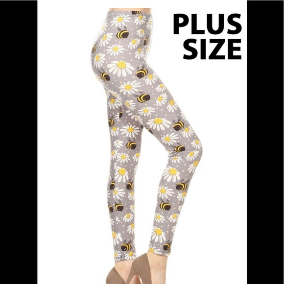 ddadcd6fa2 Leggings Depot Pants | Bees With Daisies Leggings | Poshmark